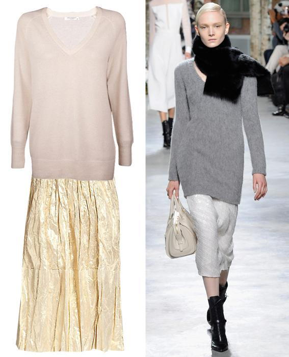 Skirt sweater combos: Hugo Boss