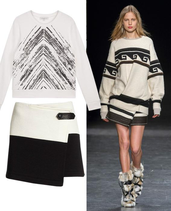 Skirt sweater combos: Isabel Marant