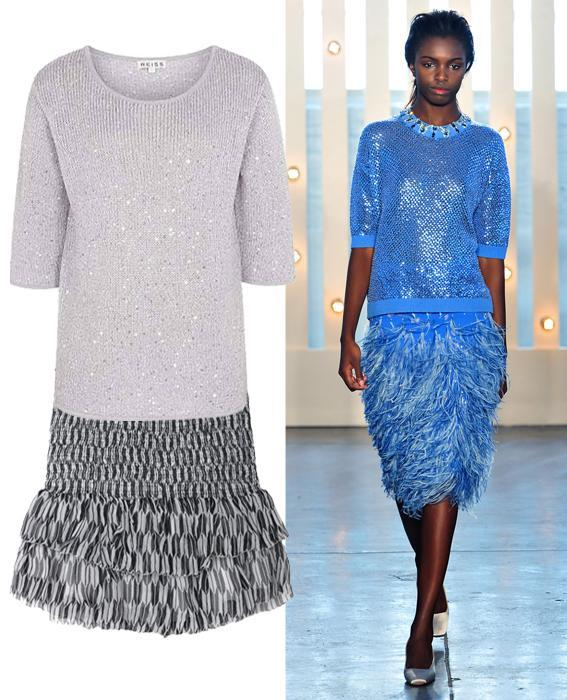 Skirt sweater combos: Jenny Packham