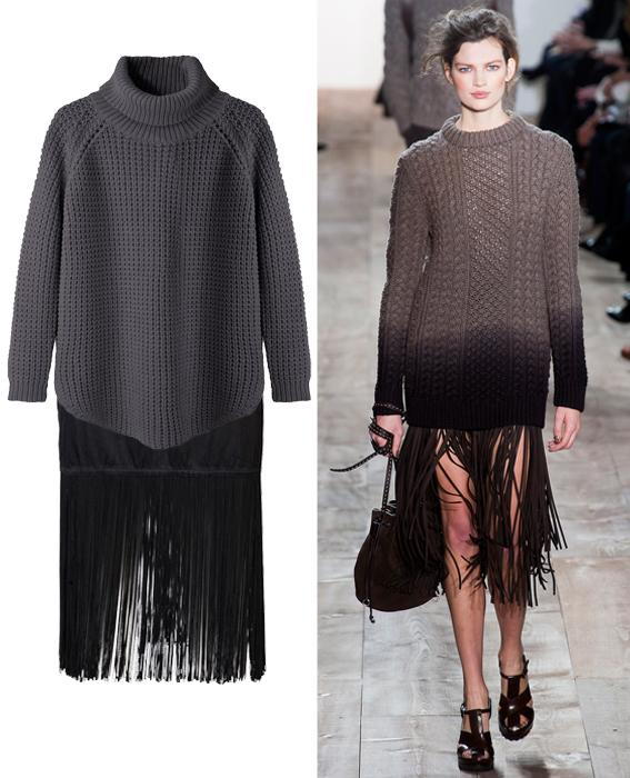 Skirt sweater combos: Michael Kors