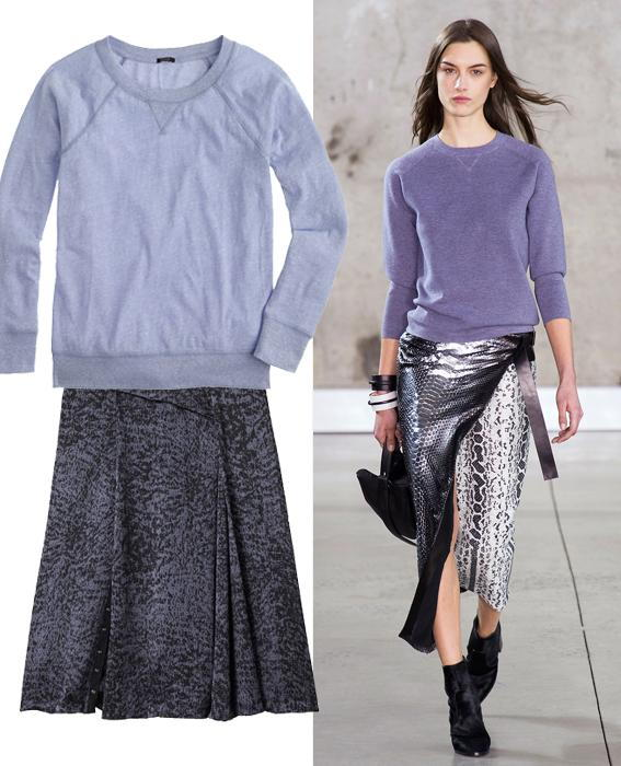 Skirt sweater combos: Reed Krakoff