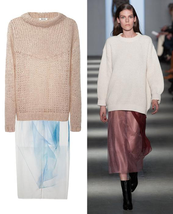 Skirt sweater combos: Wes Gordon