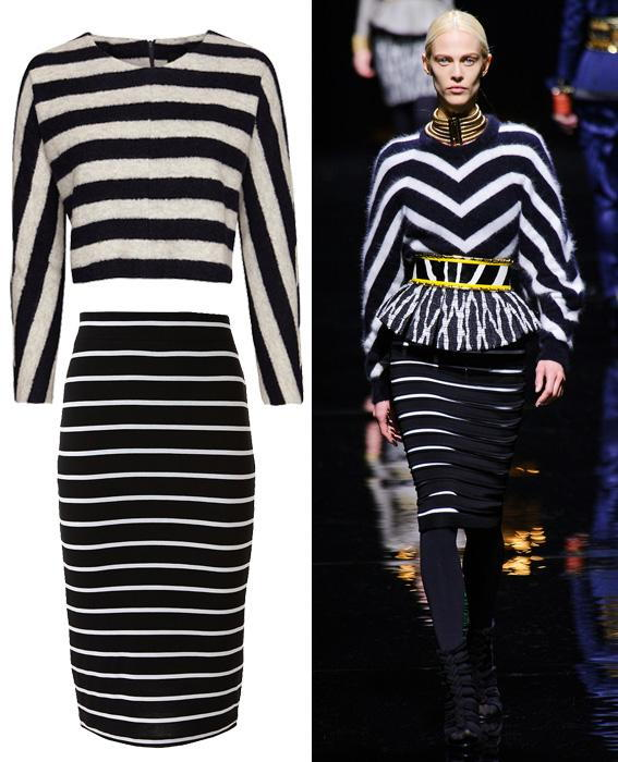 Skirt sweater combos: Balmain