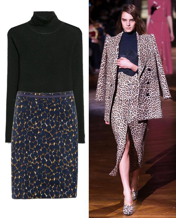 Skirt sweater combos: Carven