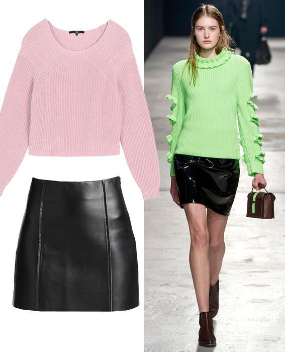 Skirt sweater combos: Christopher Kane