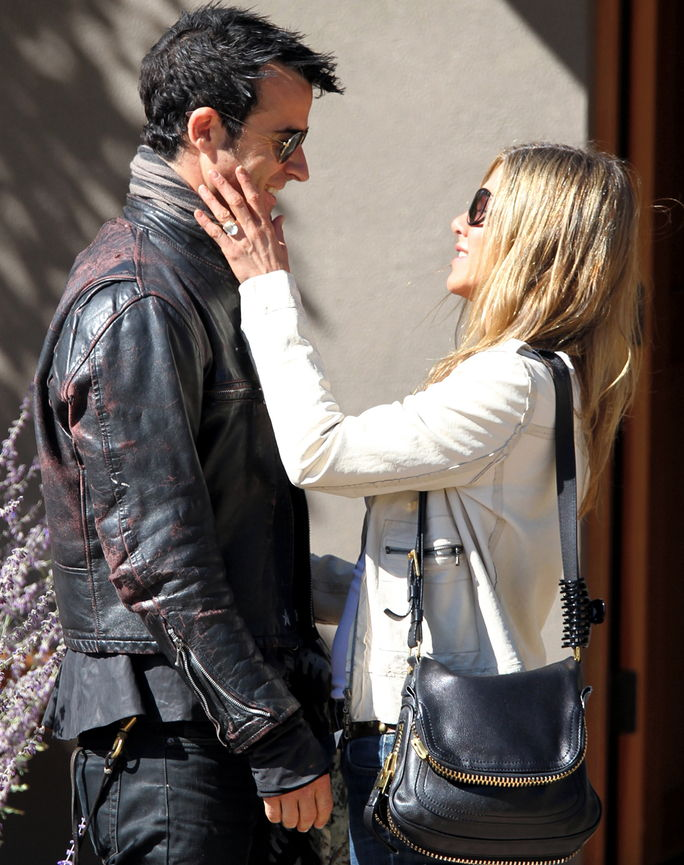 Jennifer Aniston and Justin Theroux October 6, 2012