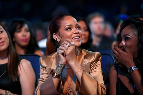 Rakaman artist Rihanna attends the 2015 BET Awards at the Microsoft Theater on June 28, 2015 in Los Angeles, California.