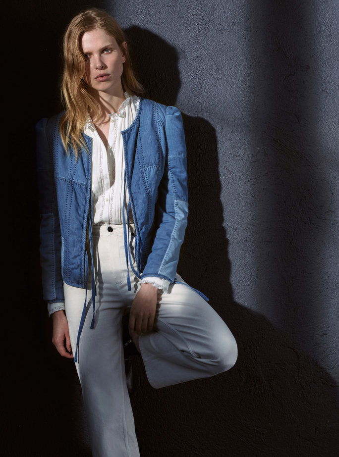 Indaco Patchwork Chambray Jacket