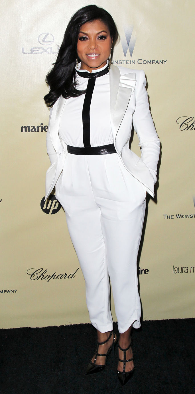 Attrice Taraji P. Henson attends The Weinstein Company's 2013 Golden Globe Awards After Party