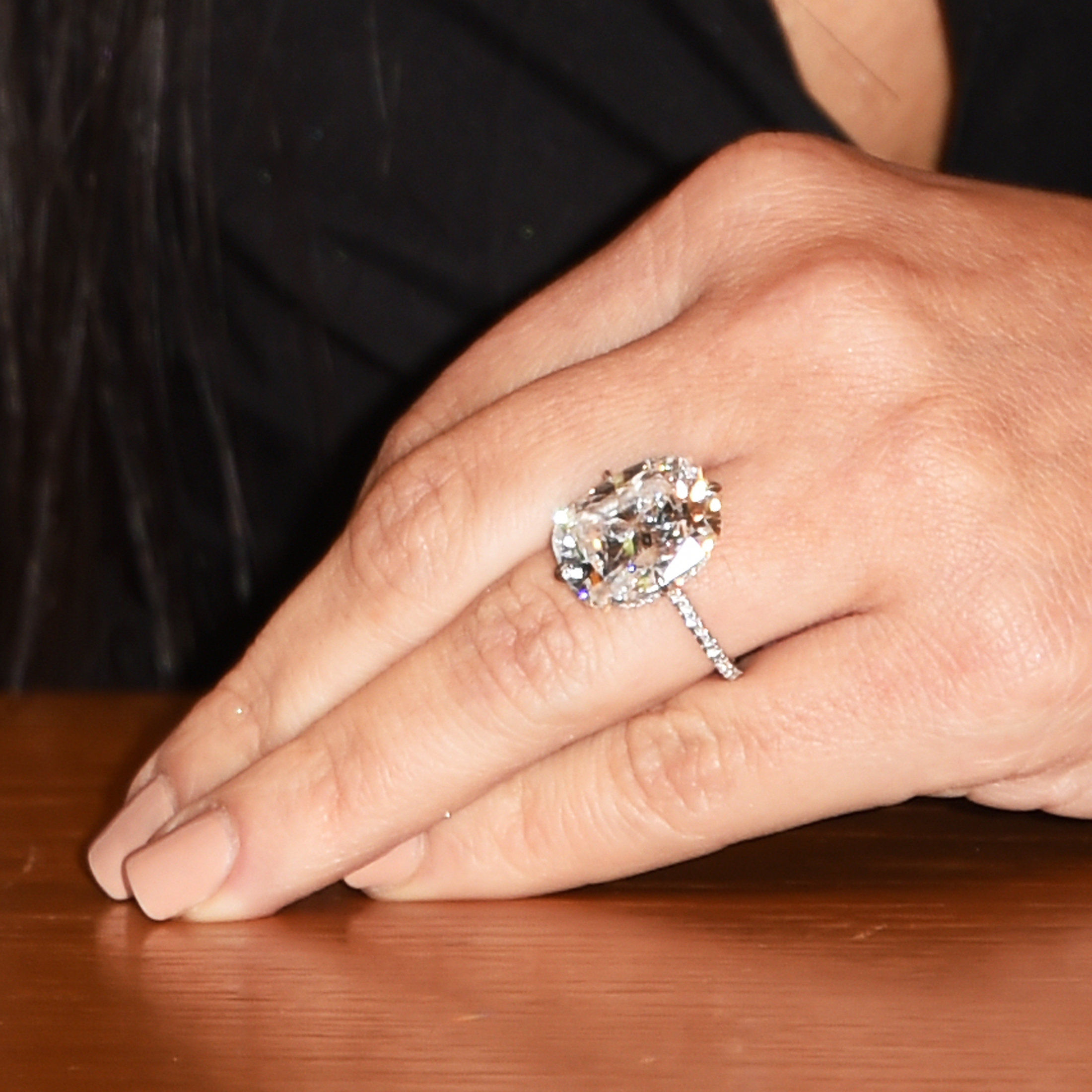 Kim Kardashian West - engagement ring - May 7, 2015