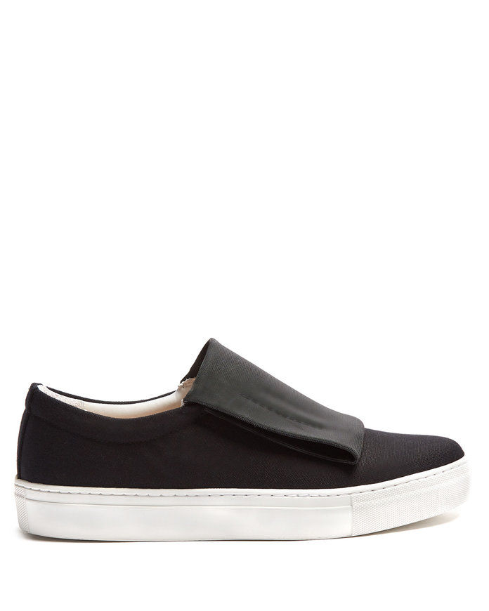 Curio slip-on canvas trainers