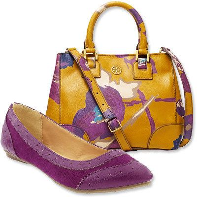 Autunno's Most Vibrant Bag and Shoe Combos - Tory Burch - Old Navy