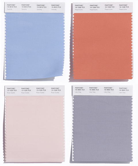 2. Serenity, Peach Echo, Rose Quartz and Lilac Gray