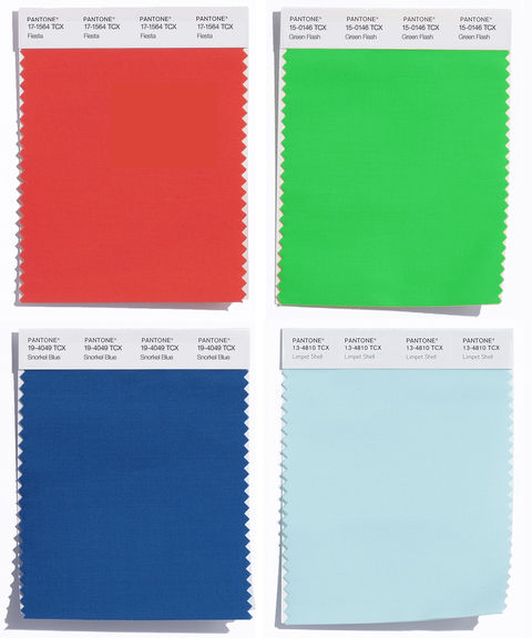 6. Fiesta, Green Flash, Snorkel Blue, Limpet Shell