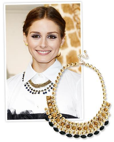 olivia Palermo and Asos necklace
