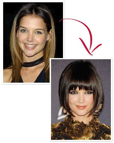 Katie Holmes's Sleek Bob and Bangs