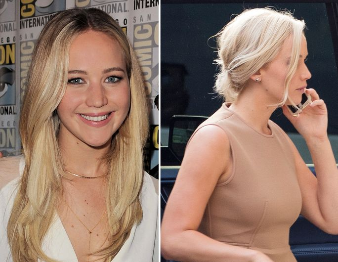 Jennifer Lawrence new blonde hair for the movie Passengers - slide