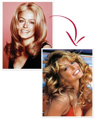 Farrah Fawcett's Feathered Layers