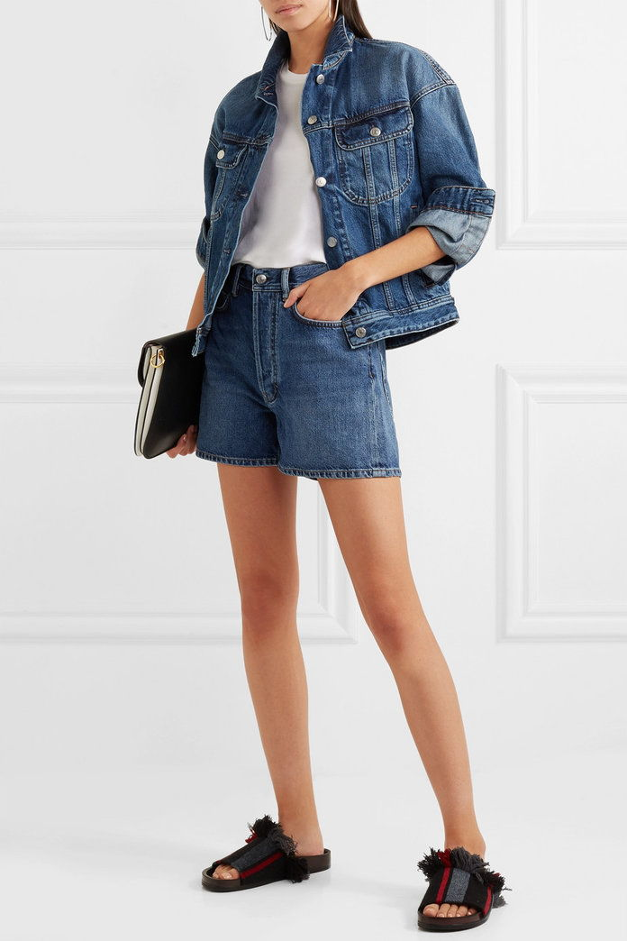 A vita alta Denim Shorts - Embed