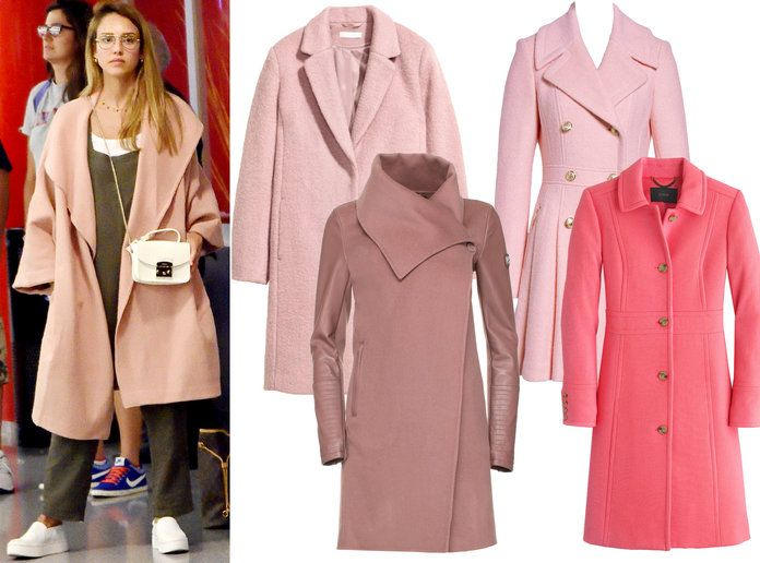 Jessica Alba Winter Coat