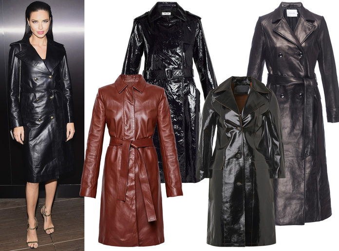 Adriana Lima Winter Coat