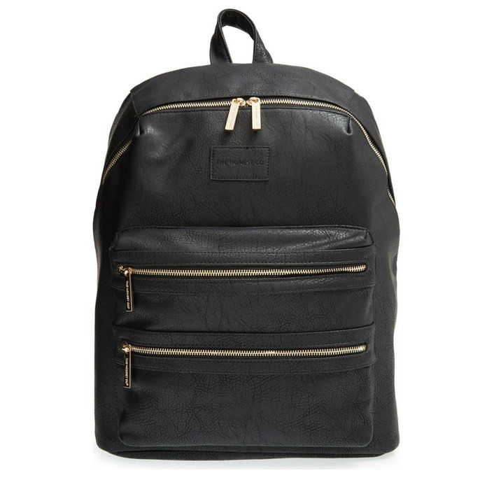 Il Honest Company City Faux Leather Diaper Backpack