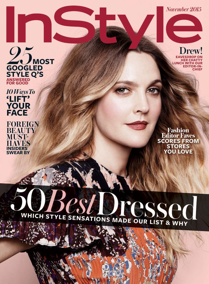 Ha disegnato Barrymore InStyle Cover