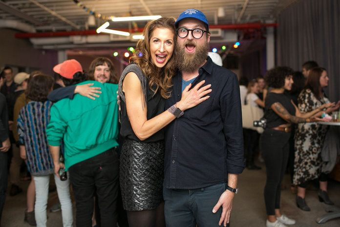 Alysia Reiner and Mike Perry