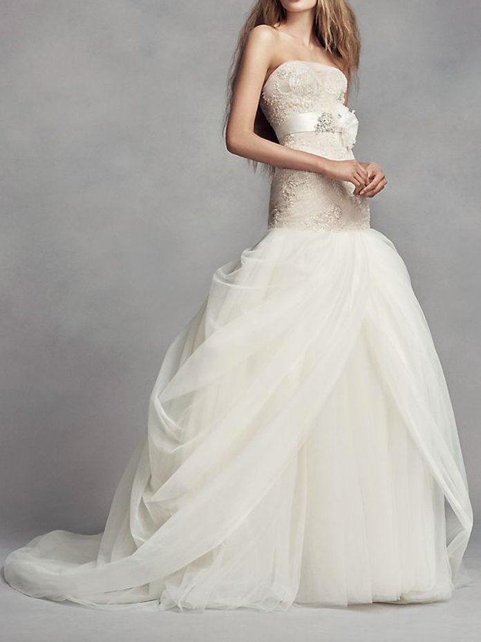 Putih by Vera Wang Petite Tulle Wedding Dress