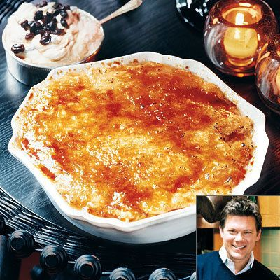 Tyler Florence, Pumpkin Rice Pudding with Rum-Raisin Mascarpone, Thanksgiving Recipes