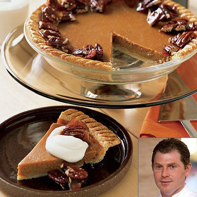 polda Flay, Easy Pumpkin Pie with Pecan Brittle, Thanksgiving Recipes