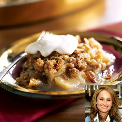 Giada De Laurentiis, Pear-and-Apple Crisp, Thanksgiving Recipes