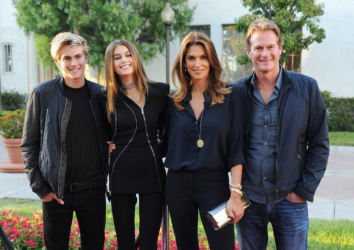 Cindy Crawford and her Family