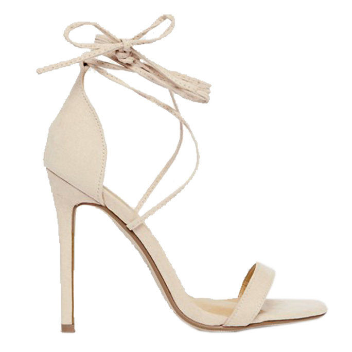 Missguided Lace Up Barely There Sandal