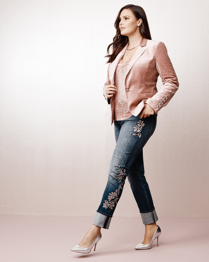 Il Luxe Blazer and Embellished Jeans