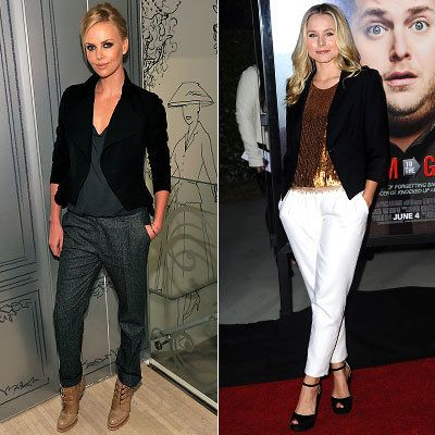 Charlize Theron - Kristen Bell - Slouchy Trouser - Celebrity Fashion Trends