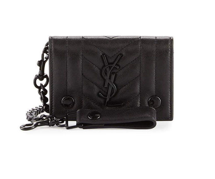 Saint Laurent Rider Men's Monogram Chain Wallet
