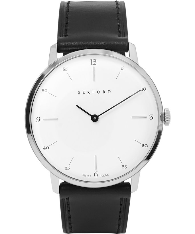 SEKFORD Type 1A Stainless Steel And Leather Watch