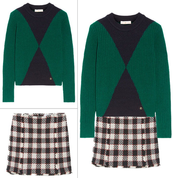 Blok Warna Sweater + Menswear Checks