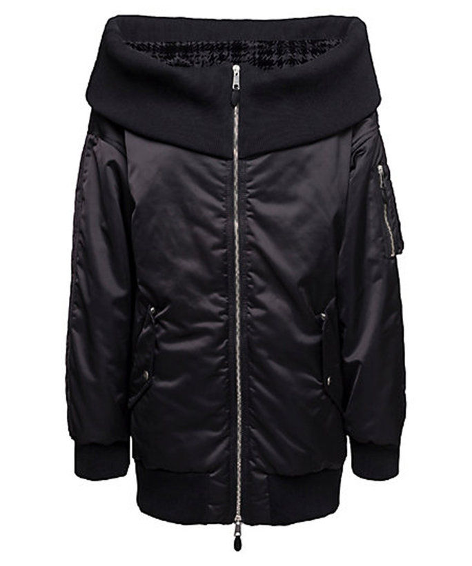 Off-the-Spalla Bomber Jacket