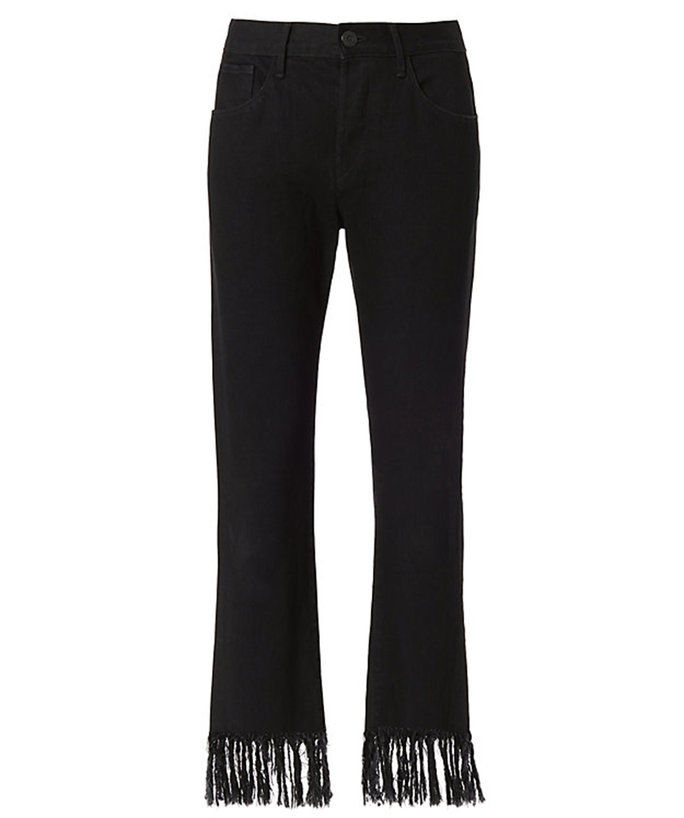 3X1 Mama Fringe Straight Pants