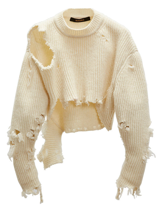 distressed Wool-Blend Pullover