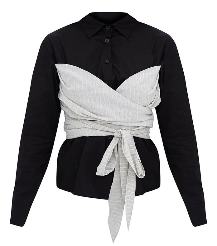 PrettyLittleThing's Bow-Wrapped Shirt