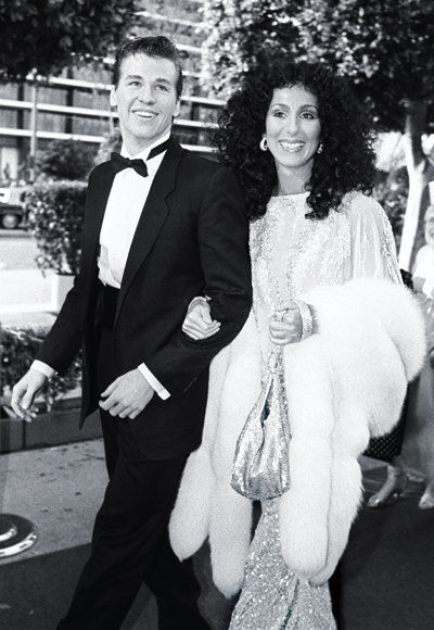Cher at the Oscars with Val Kilmer