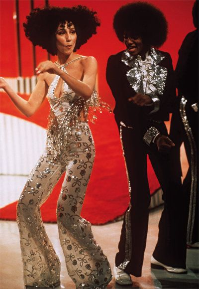 Cher dancing with Michael Jackson