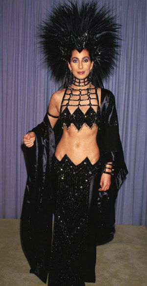 Cher in a headdress