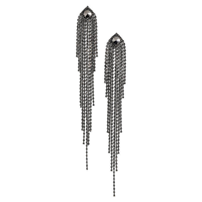 dráma Crystal Shoulder Duster Earrings