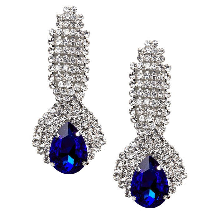vinobranie Sapphire Look Dangle Earrings