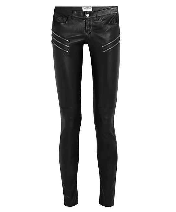 Santo Laurent Skinny Leather Trousers
