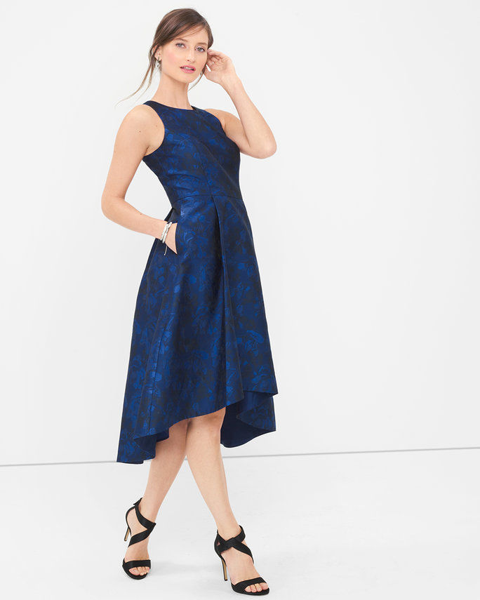 Fit-and-Flared Cocktail Dress